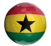 Soccer ball with Ghana flag — Stock Photo