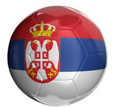Soccer ball with Serbian flag — Stock Photo