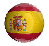 Piłka z hiszpańską flagę — Zdjęcie stockowe