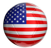 Soccer ball with US flag — Stock Photo