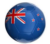 Ballon de soccer avec nouvelle zeland drapeau — Photo
