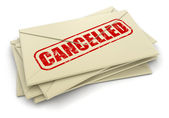Cancelled letters — Stock Photo