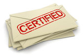 Certified letters — Stock Photo