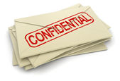 Confidential letters — Stock Photo