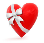 Heart with Celebration Bow — Stock Photo