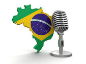 Microphone and Brazil — Stock Photo