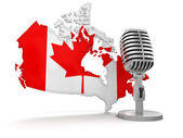 Microphone and Canada — 图库照片