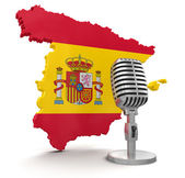 Microphone and Spain — Stock Photo