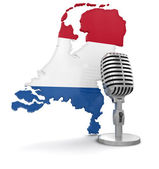 Microphone and Netherlands — Stock Photo