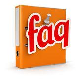 Document and Faq — Stock Photo