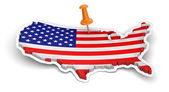 Usa serie: pin — Stock Photo