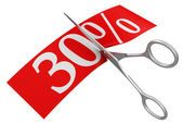 Tijeras y 30 por ciento — Foto de Stock