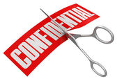 Scissors and confidential — Stock Photo