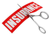 Scissors and Insurance — Stock Photo