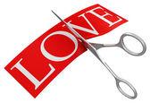 Love and scissors — Stock Photo