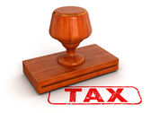 Rubber Stamp Tax — Stock Photo