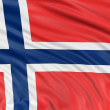 Norwegian flag — Stock Photo #32980503