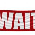 Wait banner — Foto de Stock