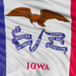 Foto Stock: Flag of state of Iowa