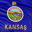 Flag of Kansas  — Stock Photo
