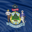 Stock Photo: Maine Flag
