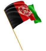 Afghani flag — Stock Photo