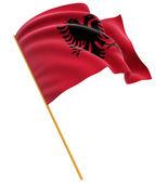 Albanian flag — Stock Photo