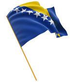 Bosnia and Herzegovina flag — Stock Photo