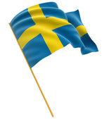 Swedish flag — Stock Photo