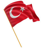 Turkish flag — Stock Photo
