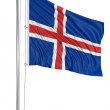 Flag of Iceland — Stock Photo #34130749