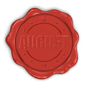 Wax Stamp August — Stockfoto