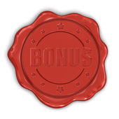 Wax seal Bonus — Stock Photo
