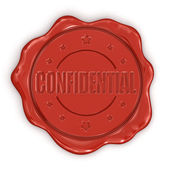 Wax Stamp Confidential — 图库照片