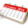Calendar September — Stock Photo