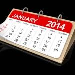 Calendar January — Stock Photo