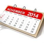 Calendar November — Stock Photo #34469309