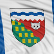 Northwest territories flag — Stock Photo