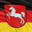 Stock Photo: Flag of Lower Saxony