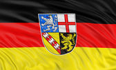 Flag of Saarland — Foto Stock