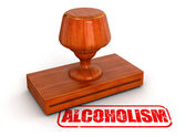 Rubber Stamp Alcoholism — Foto Stock