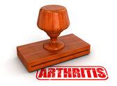 Rubber Stamp arthritis — Stock Photo