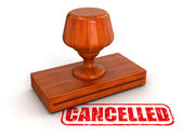 Rubber Stamp Cancelled — Stock Photo
