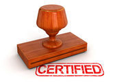 Rubber Stamp certified — Stock Photo