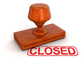 Rubber Stamp Closed — Stock Photo