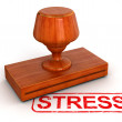 Stress Rubber Stamp — Stock Photo