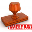 Welfare-stamp — Stock Photo