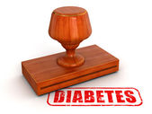 Rubber Stamp Diabetes — Stock Photo