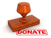 Donate rubber stamp — Stock Photo