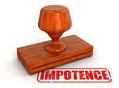 Impotence stamp — Stock Photo